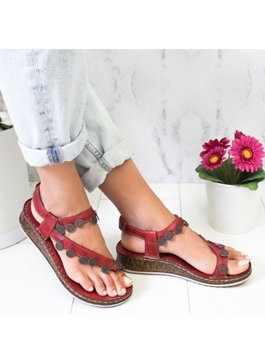 Limoya Sandalet Bordo